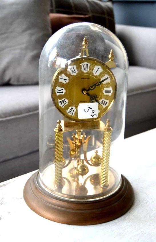 turn a broken thrift store clock into a christmas cloche easily