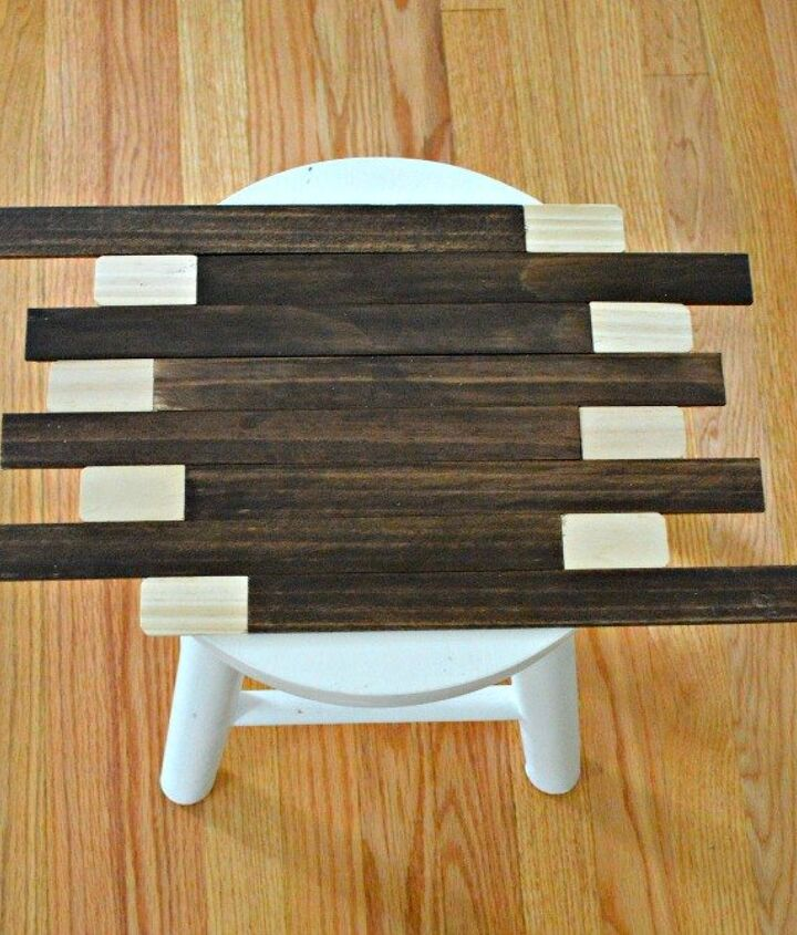 rustic stool makeover