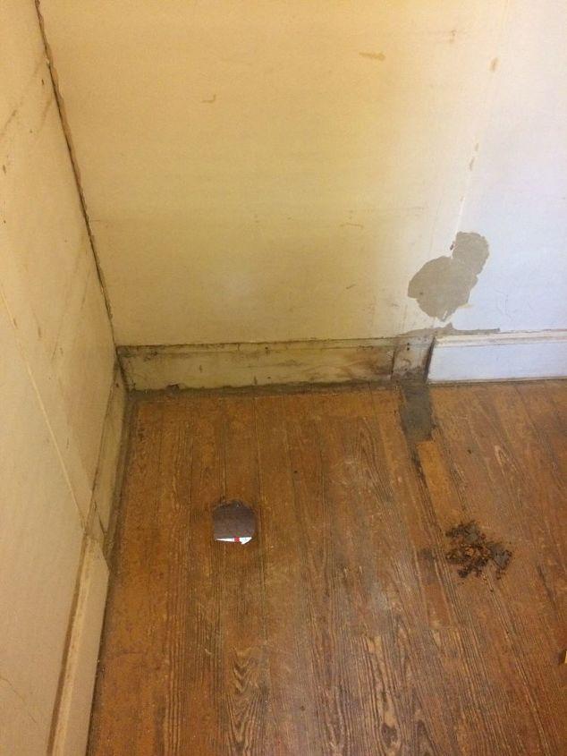 q i m trying to refinish my bathroom floor
