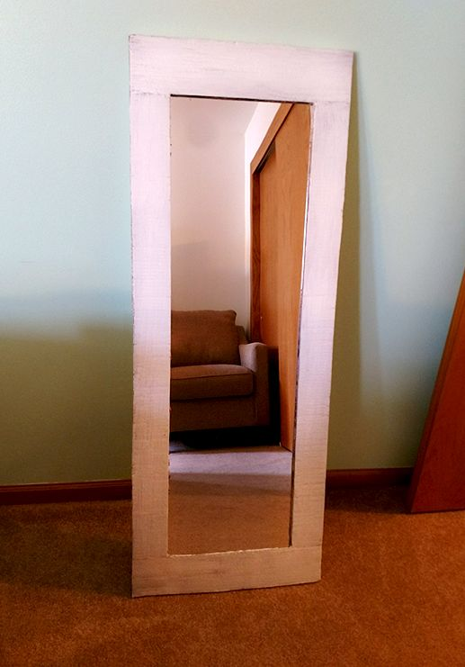 Cardboard box to mirror frame hometalk for Inexpensive framed mirrors