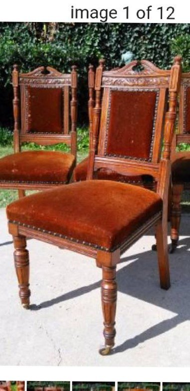 q antique chairs with coil springs