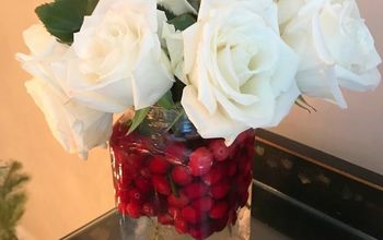 Cranberry Christmas Flower Centerpiece