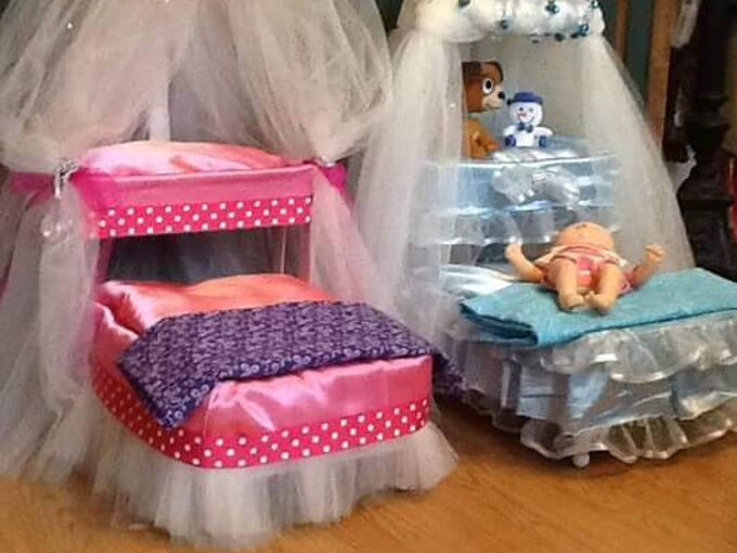 doll beds made of cardboard or pet bed