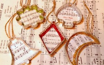 Vintage Cookie Cutter Sheet Music Christmas Ornaments