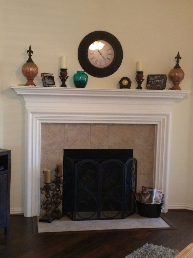Living Room Fireplace Redo | Hometalk