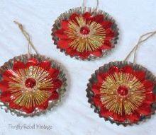 vintage light reflector tart tin ornaments