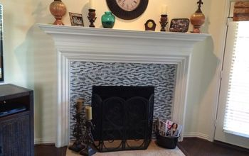 living room fireplace redo, The finished product