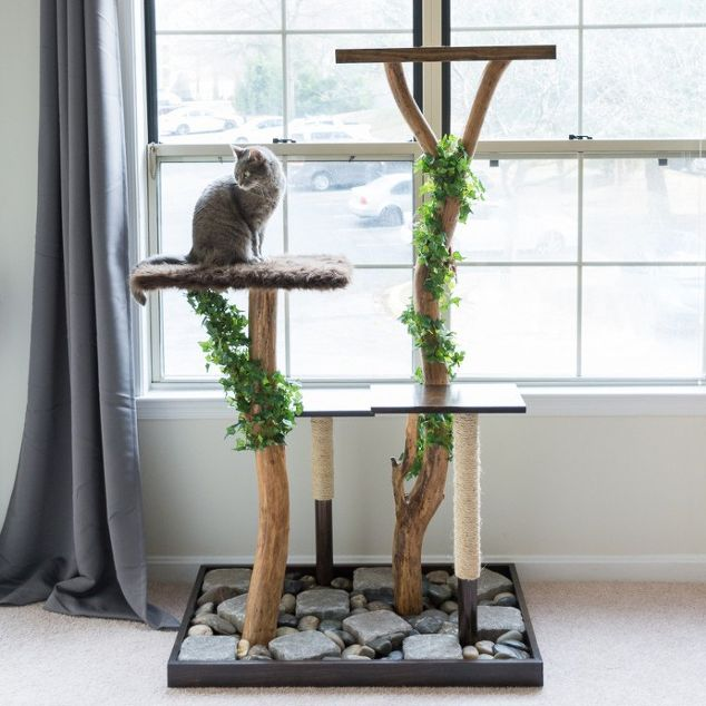 Easy Real Branch DIY Cat Tree