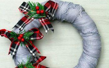 Scarf Christmas Wreath Tutorial