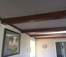 q how can i lighten these beams the room is small and looks so dark