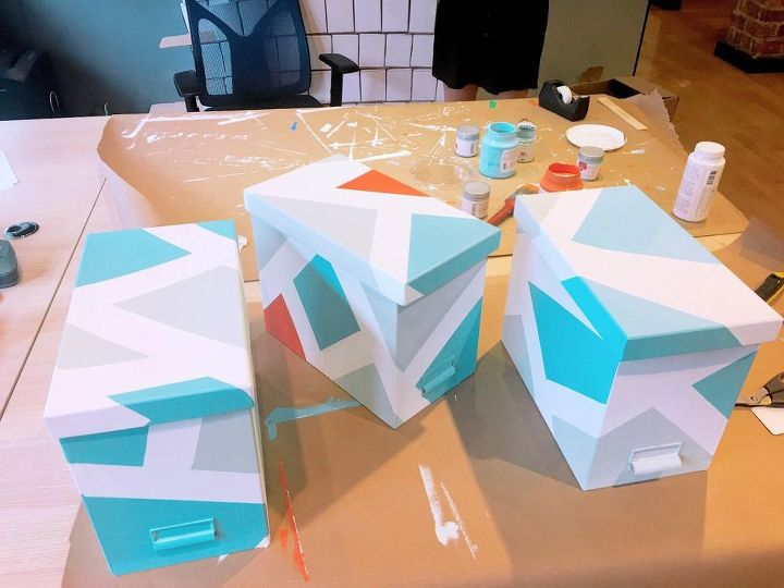 s 25 ways you can be an artist with no experience necessary, Use tape to decorate old boxes