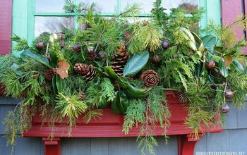 sprucing up window boxes with christmas greenery - Window Box Christmas Decorations