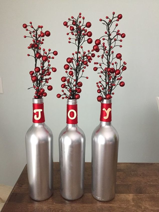 easy wine bottle christmas craft
