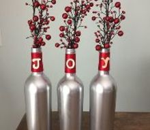 easy wine bottle christmas craft
