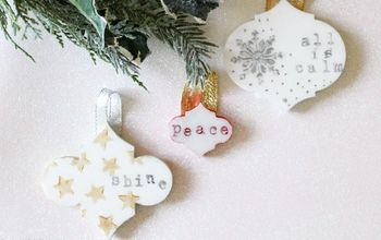 Upcycled Tile Ornaments
