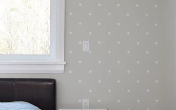 How to Make a Polka Dot Accent Wall