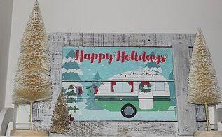 christmas camper dollar store pallet wood sign