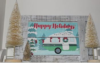 Christmas Camper Dollar Store Pallet Wood Sign