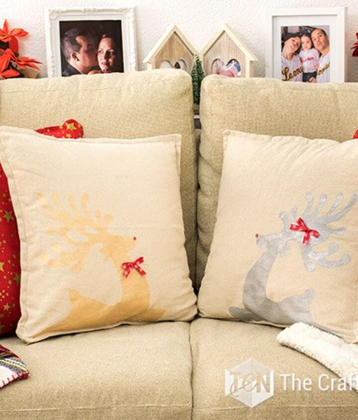 easy rustic christmas pillowcases with freezer paper