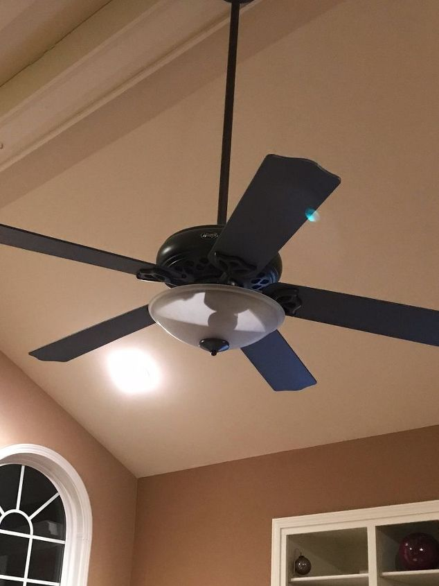 Painted ceiling fan instant drama hometalk painted ceiling fan instant drama aloadofball Gallery