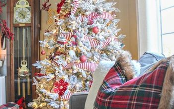 red and white christmas living room tour