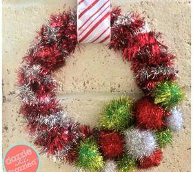 Diy retro tinsel garland wreath in minutes hometalk