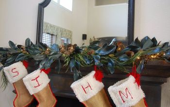 natural and budget friendly christmas mantle decor