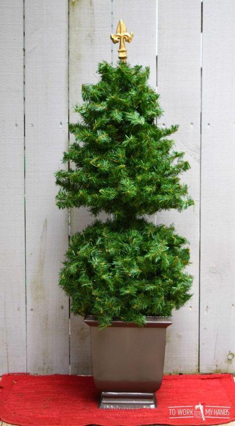 repurposed topiary christmas tree
