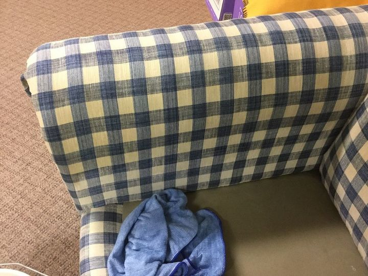 q any ideas on cleaning upholstery yellow stain from head laying on co