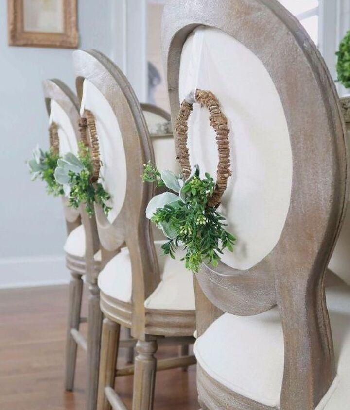 s 25 christmas wreath ideas you don t want to miss this year, Elegant Chair Back Wreath