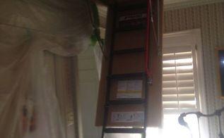 diy alone attic stair installation