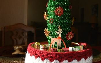 Wine Bottle Christmas Tree Craft