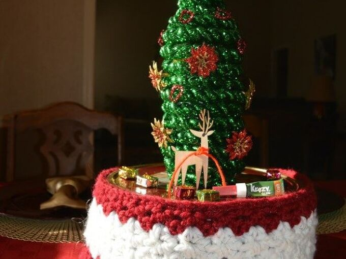 wine bottle christmas tree craft