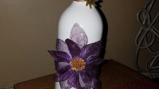 , I found this flower and thought it would look perfect on the bottle thank you for the idea