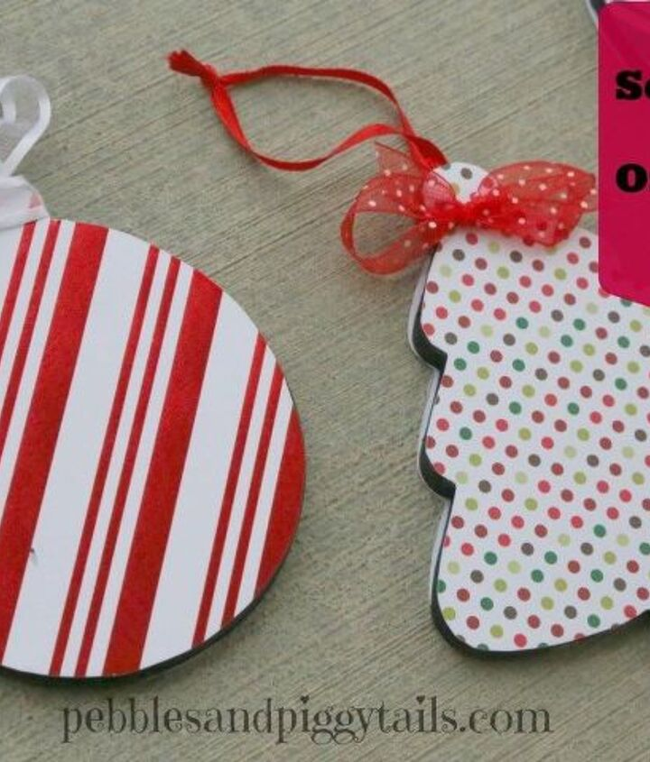 s the wonderful things you can make with paper, Christmas Decor From Scrapbook Paper