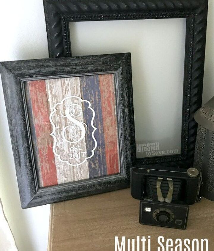 s the wonderful things you can make with paper, Multi Season Monogrammed Frame