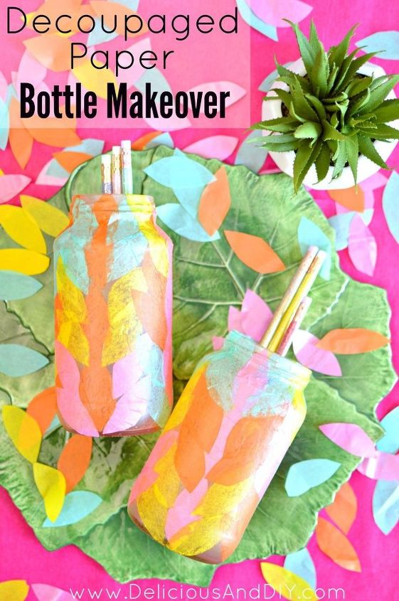 s the wonderful things you can make with paper, Tissue Paper Bottles