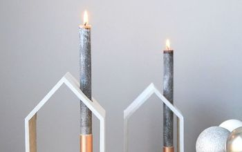 DIY Holiday House Candle Holder
