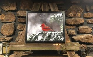 quick fireplace mantle photo easel