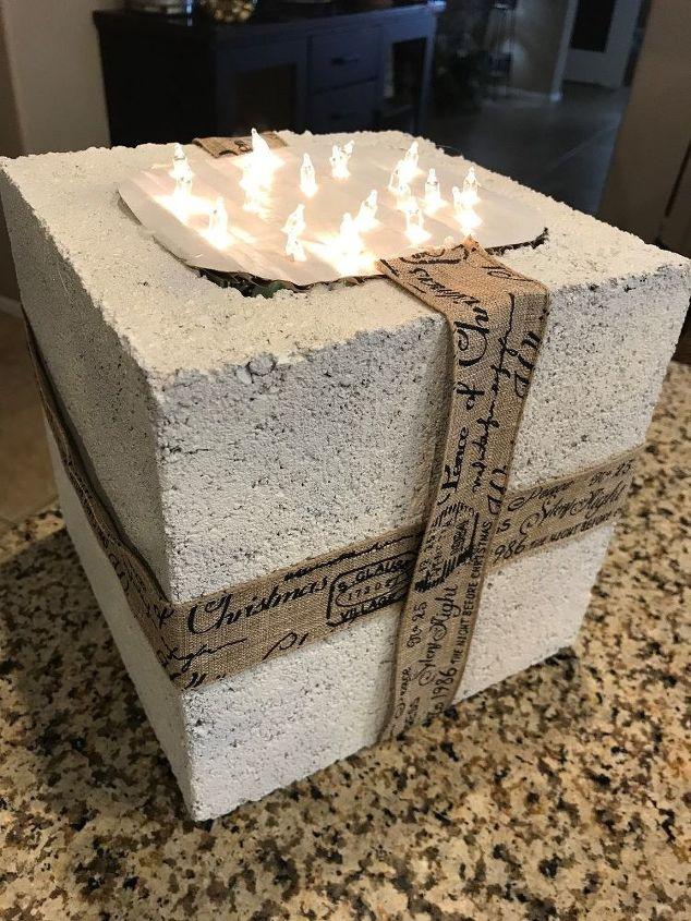 light up cinder block present