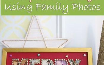 diy merry christmas sign using family photos