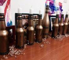 beer bottle menorah