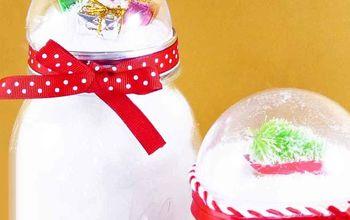 Make a Glitter Globe Atop a Mason Jar