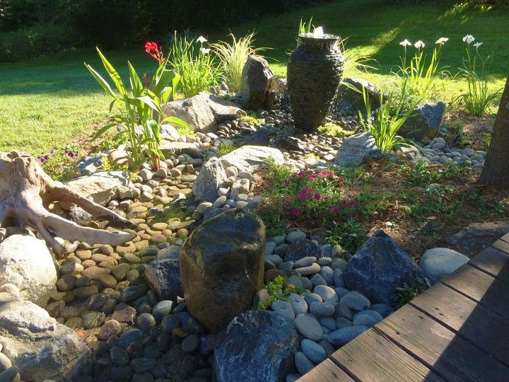 beautiful back deck fountainscape bedford hills ny