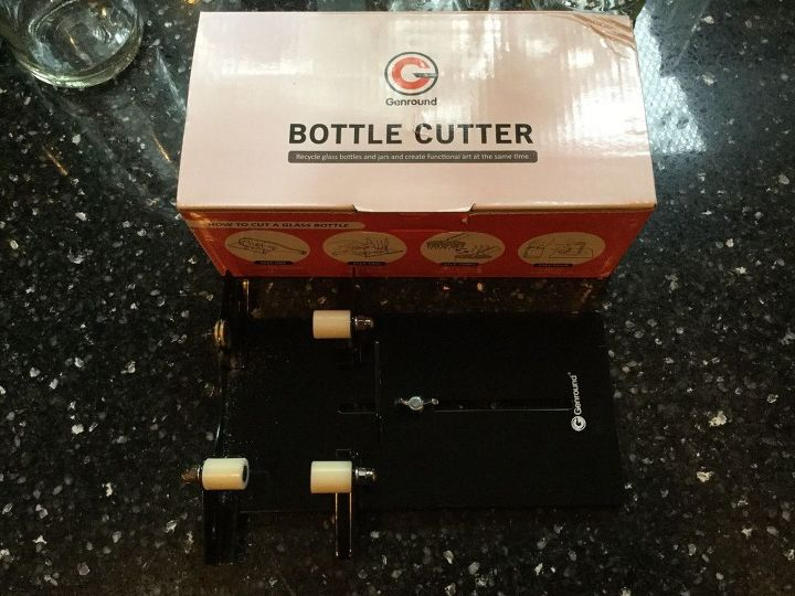 up cycling bottles with a bottle cutter