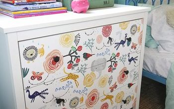 15 minute ikea dresser hack wallpaper covered dresser