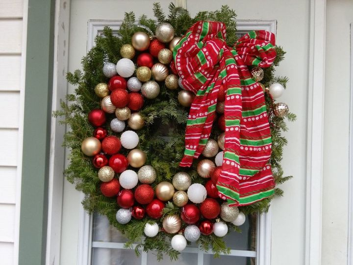 a real christmas wreath for my back door