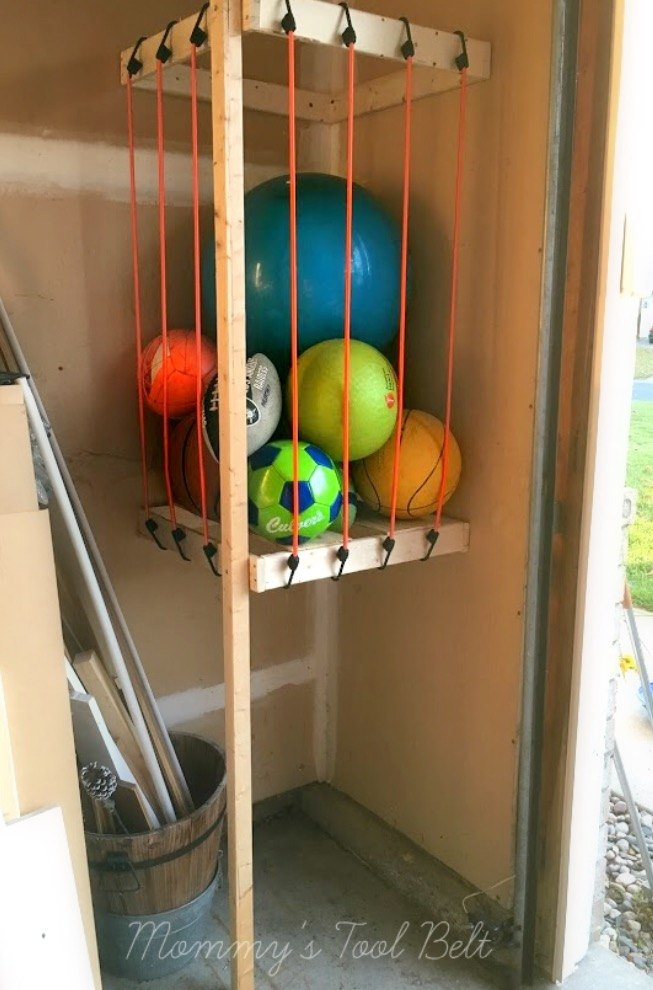 Diy Bedroom Storage Ideas. Garage Ball Storage The Newest DIY Space Saving Ideas To Keep Your Home