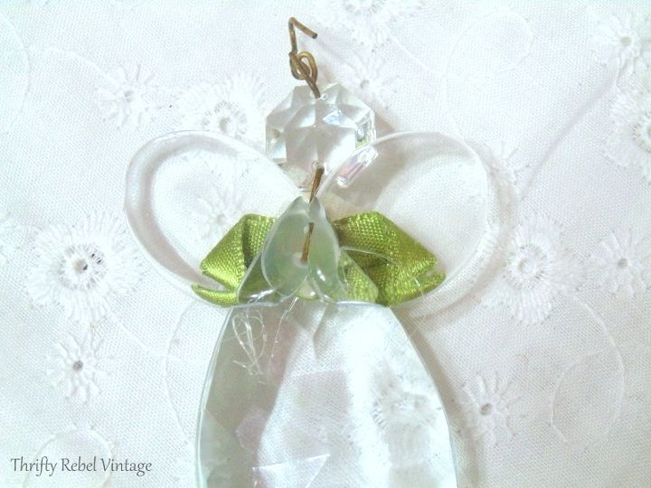 repurposed chandelier crystal angel ornaments