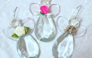 Repurposed Chandelier Crystal Angel Ornaments